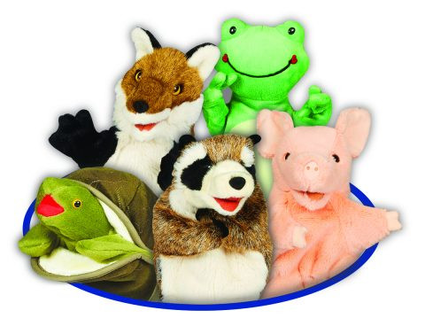 fox-racoon-pig-frog-turtle-oval